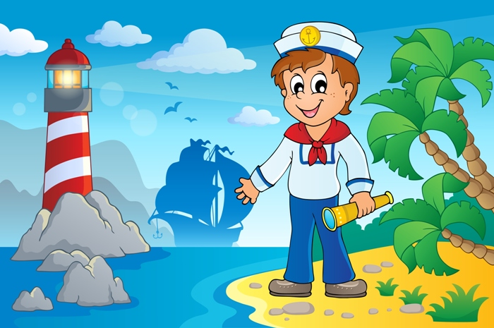 Image with sailor theme 5 - eps10 vector illustration