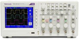 Цифровой осциллограф TDS2014C - передняя панель