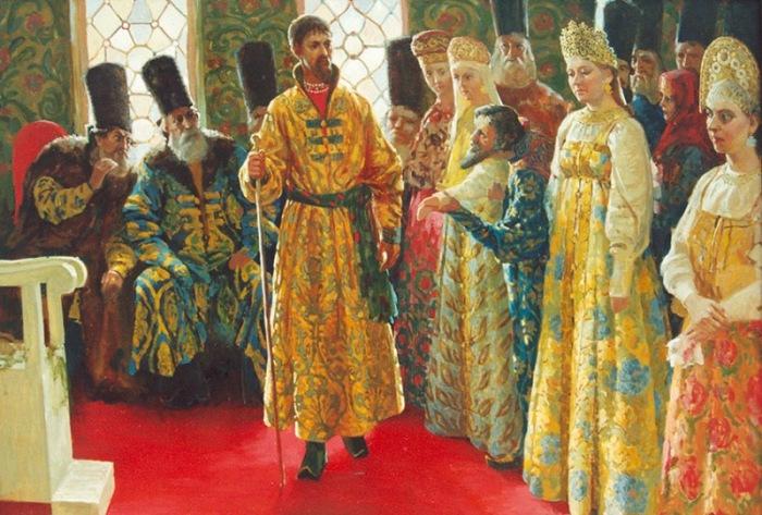 Выбор невесты. Никитин С.  В 1505 году будущий царь Василий III решил провести первые на Рус