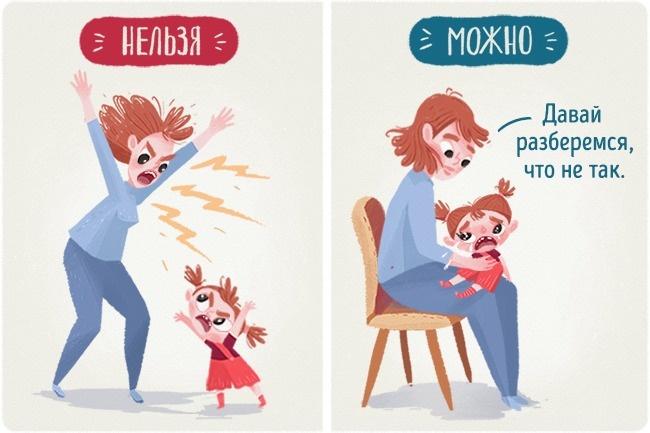 Дети— это зеркало родителей. Чем истеричнее ибеспокойнее ведет себя ребенок, тем спокойнее ипосле