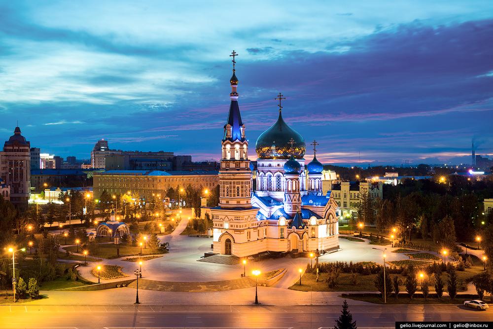 Омску 300 лет. Виды города с высоты.