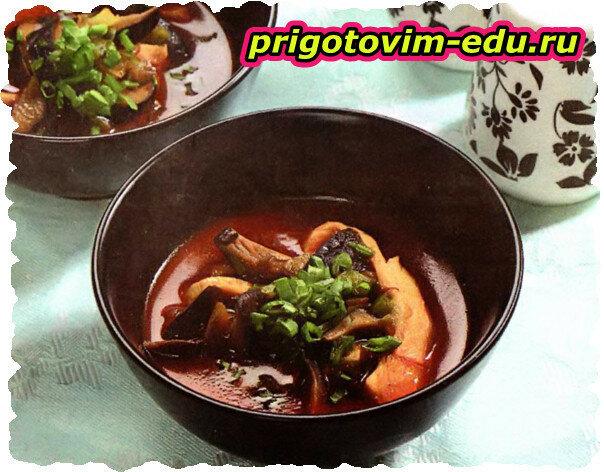 Японский суп с шиитаке