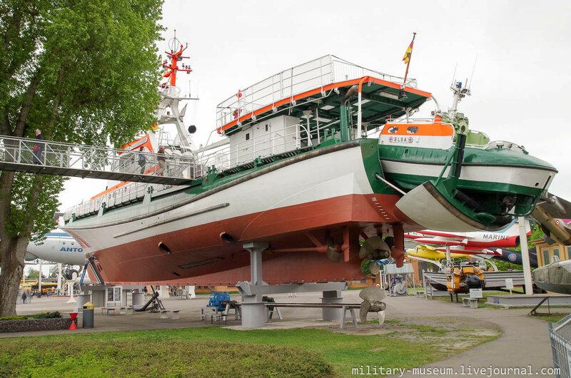 Спасательный крейсер J.T. Essberger в музее Speyer