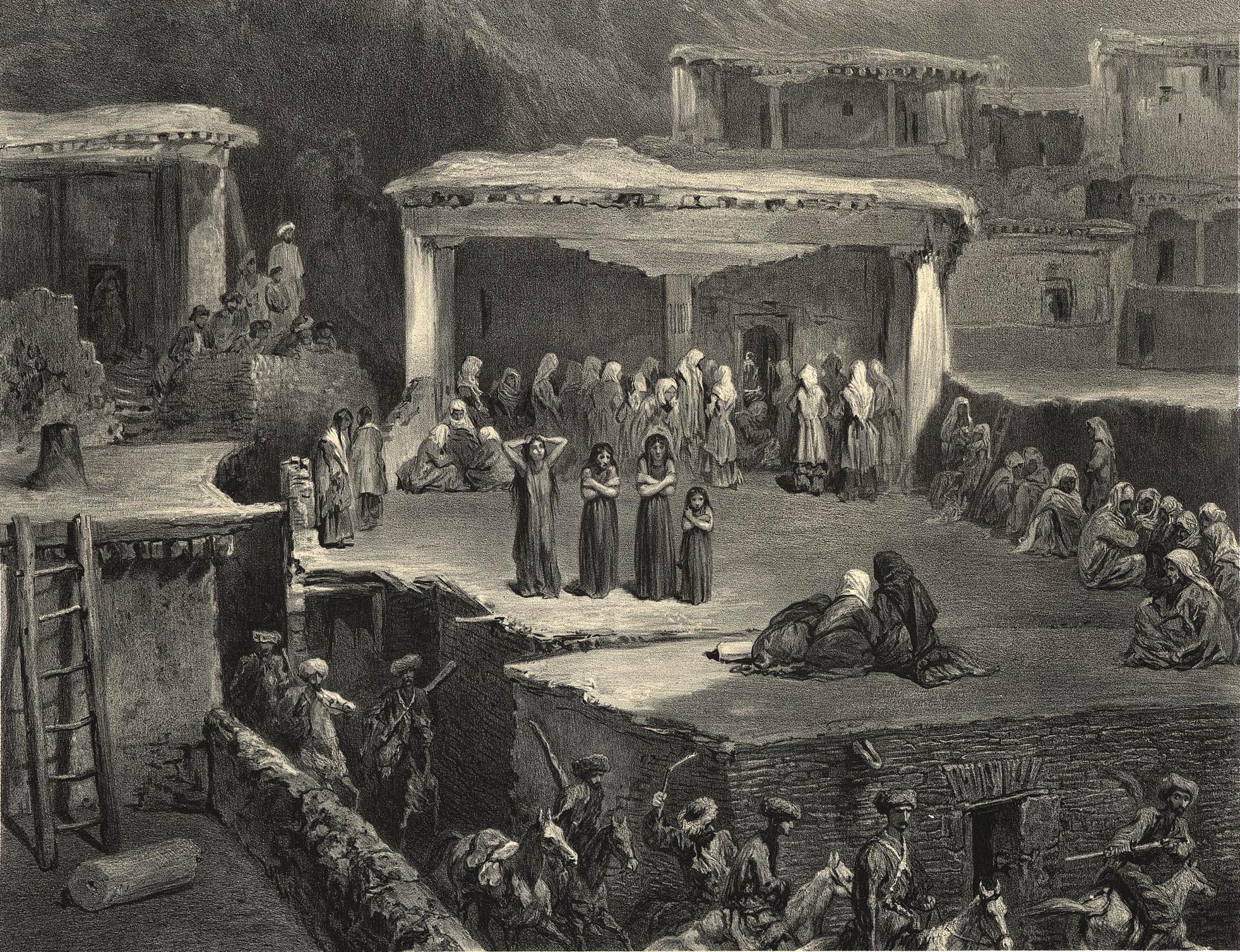 70. Daghestan. Ceremonie funebre a Akhaltchi (en Avarie) / Дагестан. Погребальная церемония в Ахальчи (в Аварии)