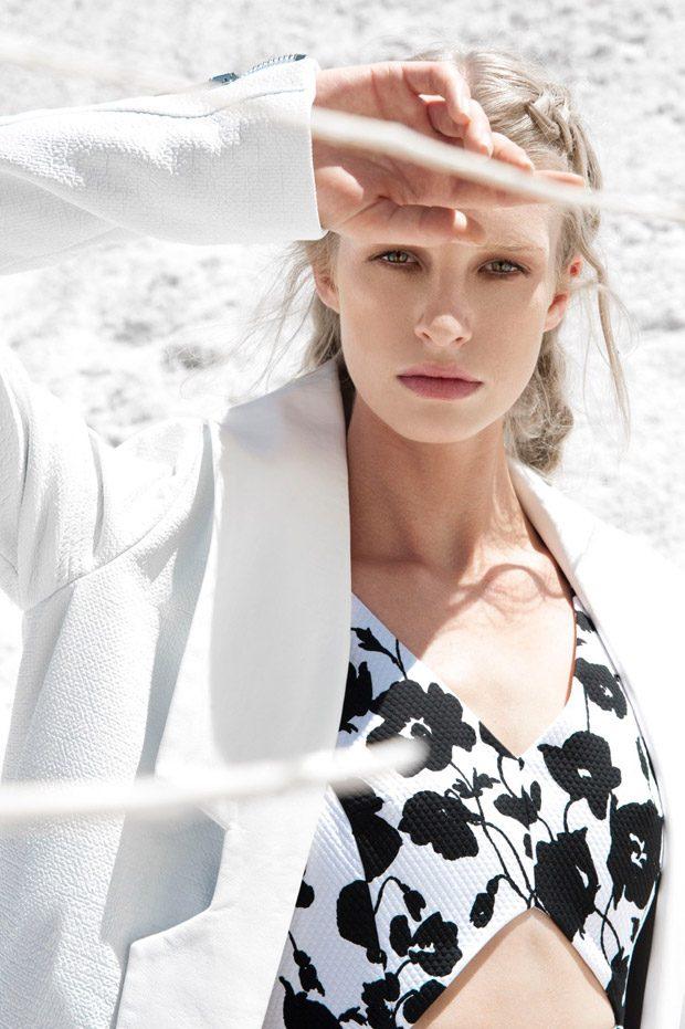 Dream White with Alice Cornish for ELLE Bulgaria September 2016 Issue