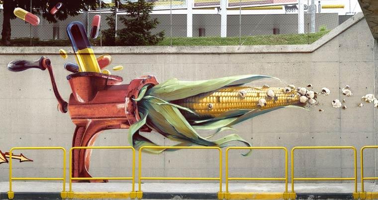 Street Art - Les superbes creations de Wes21
