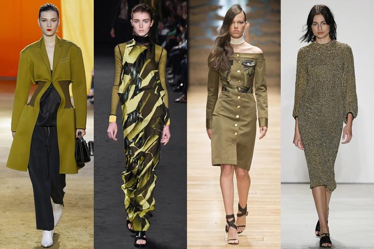 модные цвета весна лето 2016 - хаки, оливковый, болотный