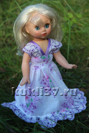 длинный сарафан для куклы