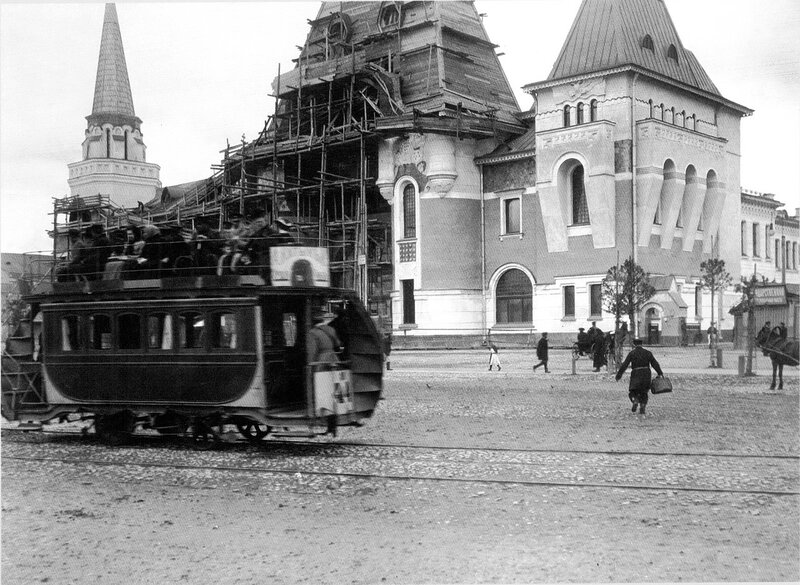 Конка у Ярославского вокзала