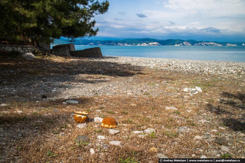 горшки на пляже