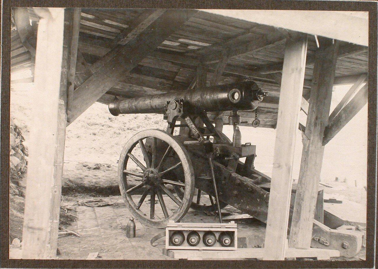22. Вид одного из орудий на форте группы Гурко