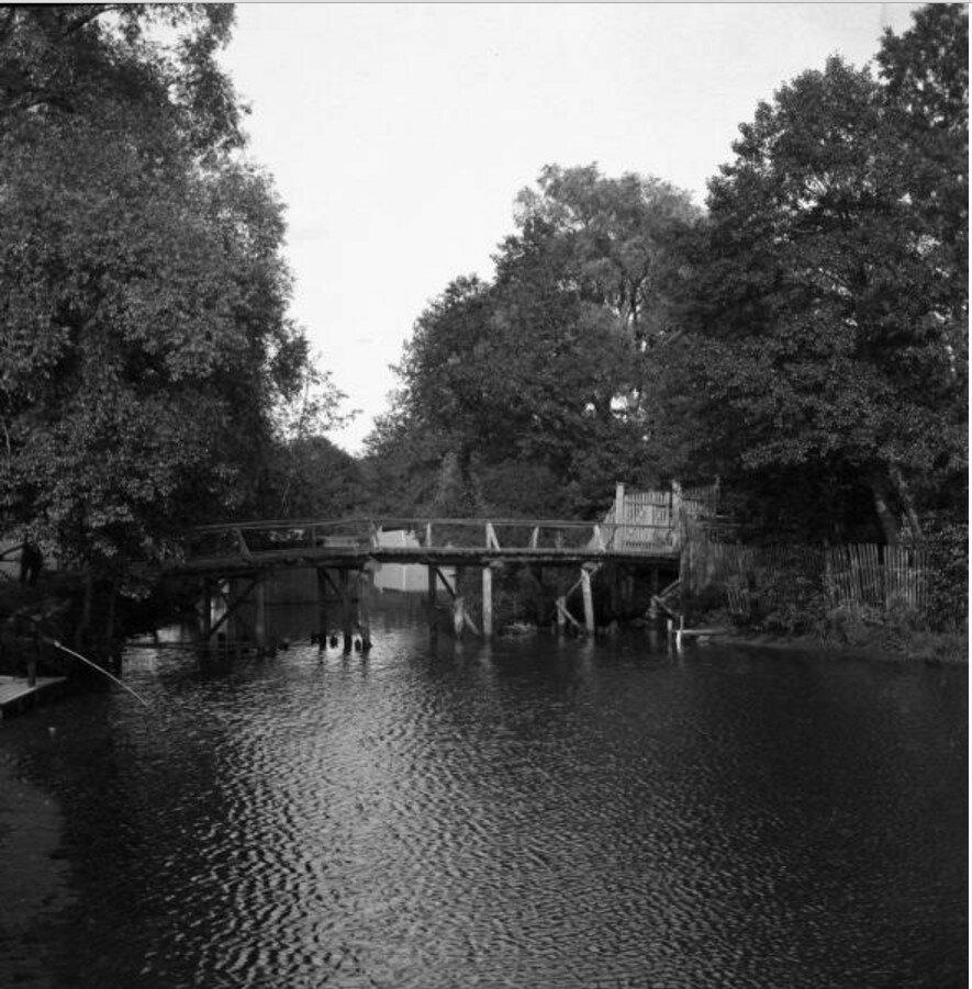 1904. Томилино. Мост через речку