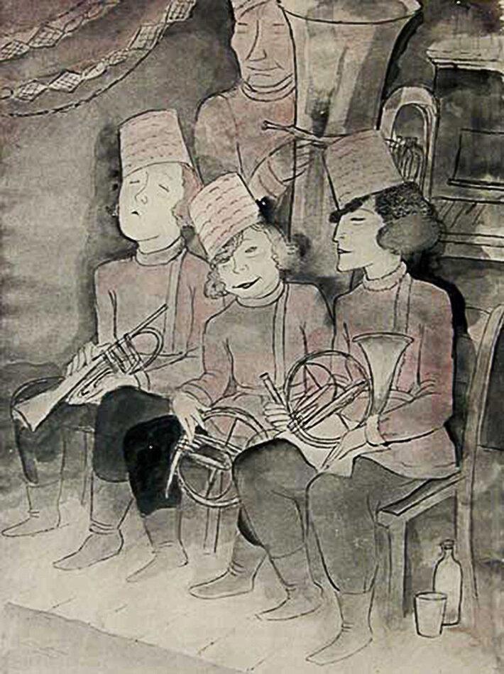 Русский женский оркестр. 1929