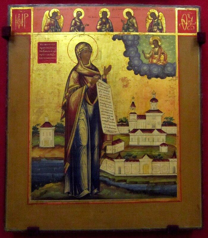 Боголюбская икона Божией Матери. Середина XIX века.
