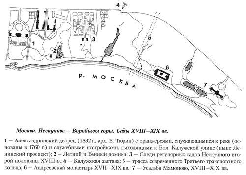 Нескучное и Воробьевы горы в Москве, генеральный план