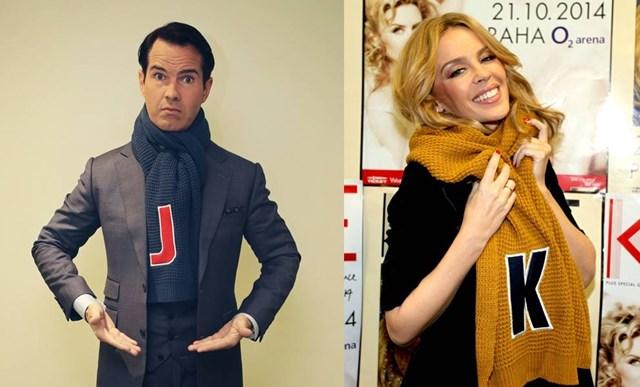 Флешмоб знаменитостей с шарфами Matalan