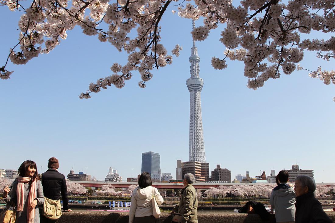 Скай Три в Токио построено в 2012 году, высота — 634 м. «Небесное дерево» — самая высокая среди теле