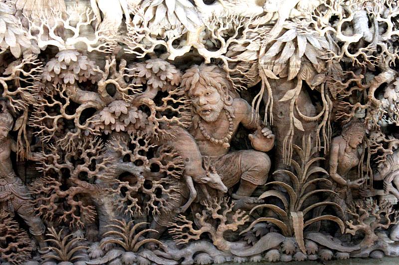 тайская резьба по дереву фото сети