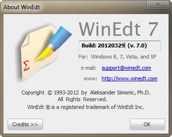WinEdt 7 is a unicode editor. . It is compiled with Delphi XE and