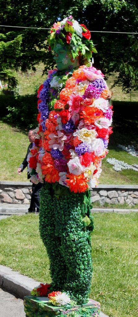 Живая цветочная модель