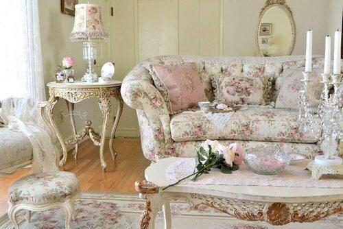 Спальня в стиле шебби-шик.Романтика старины