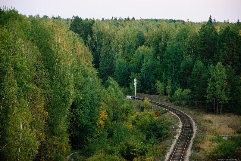 поворот железной дороги
