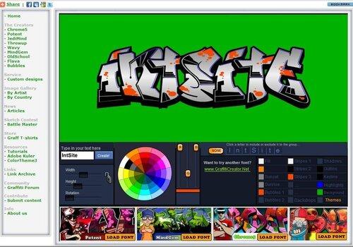 Онлайн редактор графити
