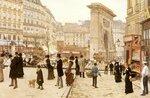 """Le Boulevard St. Denis, ParisOil on canvas55 x 37 cm(21.65"""" x 14.57"""")Private collection"""