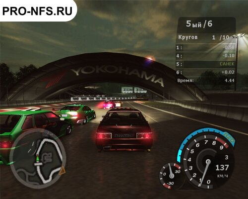 ВАЗ 2114 ДЛЯ Need For Speed Underground 2 ГОНКА