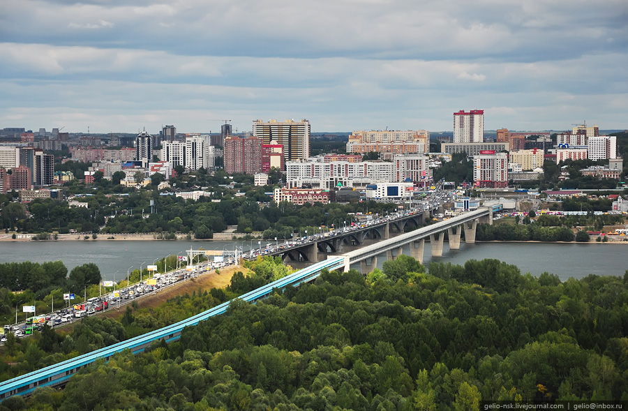 Метромост в Новосибирске