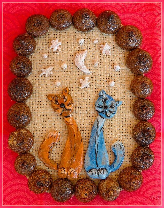 Поделки из соленого теста кошки