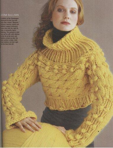 Красивые вязаные свитера.  Фото из каталогов: Выкройки