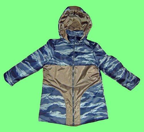 """...зимняя удлиненная модель куртки на мальчика.   """"Куртка камуфляж """". b/b."""