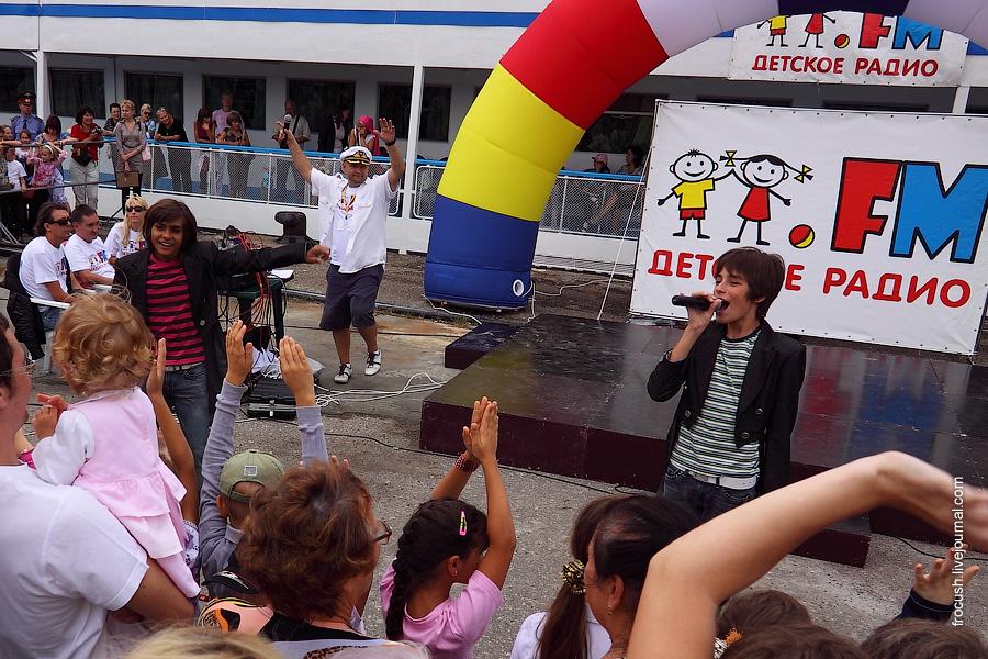 Концерт Детского радио на причале Ульяновска 25 августа 2010 года, группа Волшебники двора