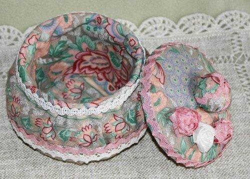 Шкатулка декорированная тканью