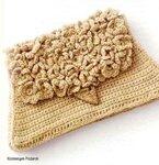Поделка, изделие Вязание крючком: Сумочка-клатч Нитки.
