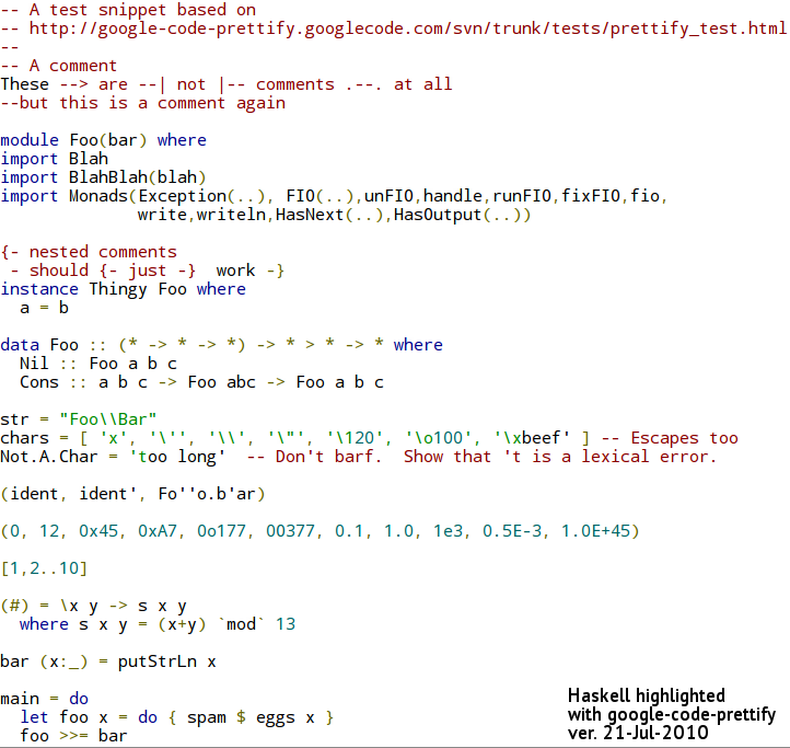 Nix Tips Javascript Highlighter For Haskell Code