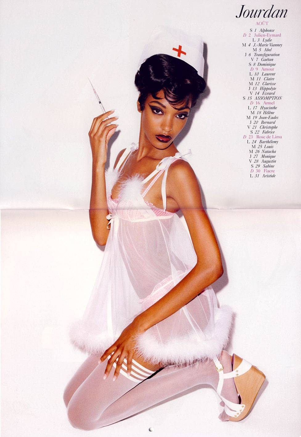 French Vogue 2009 calendar by Terry Richardson - август. Jourdan
