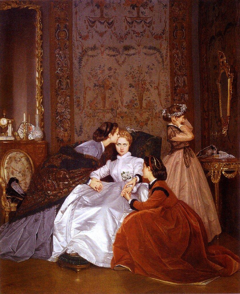 Auguste Toulmouche,Сомневающаяся невеста,1866