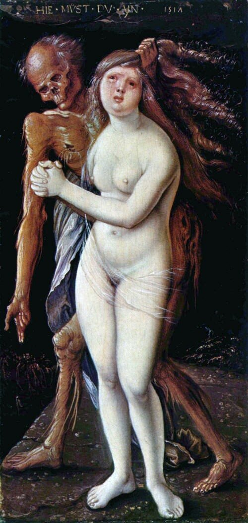 Death and the maiden Hans Baldung Grien 1517 Dornai