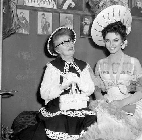 Evelyn Nesbit with Joan Collins