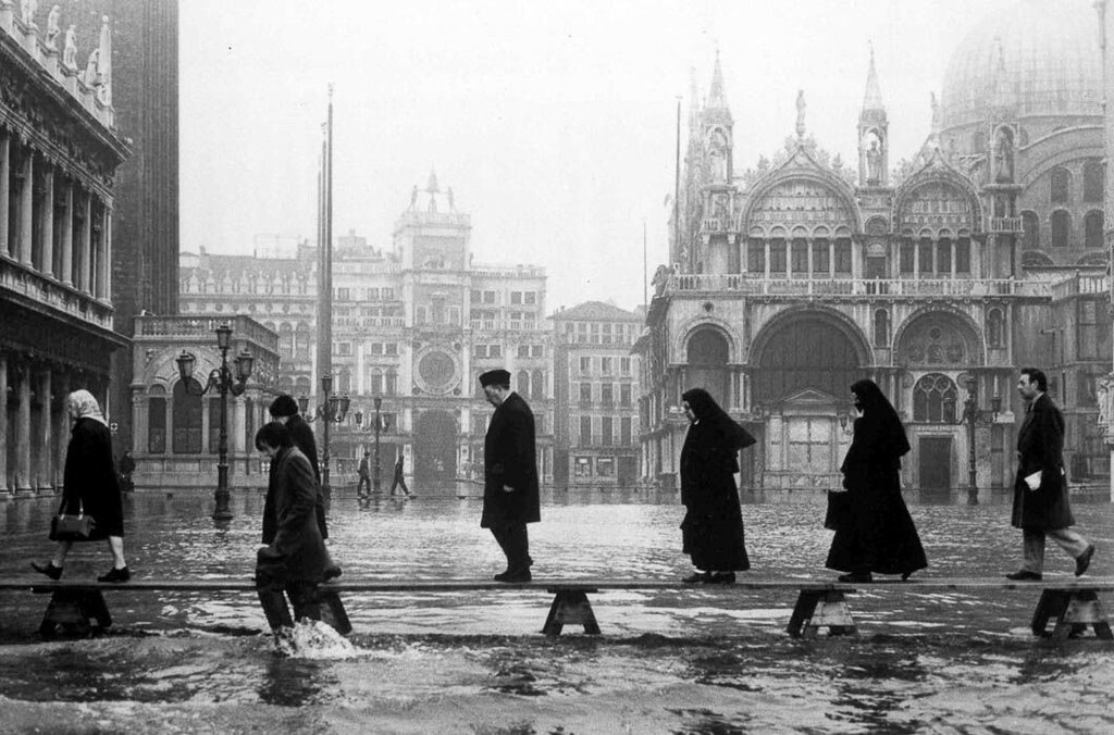 Italy Venice Flooded