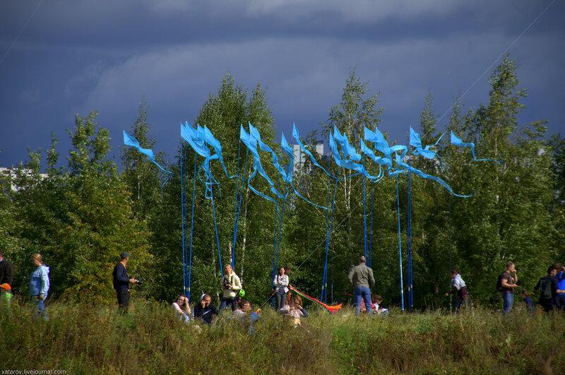 """Фестиваль воздушных змеев """"Пёстрое небо"""" в Царицыно"""