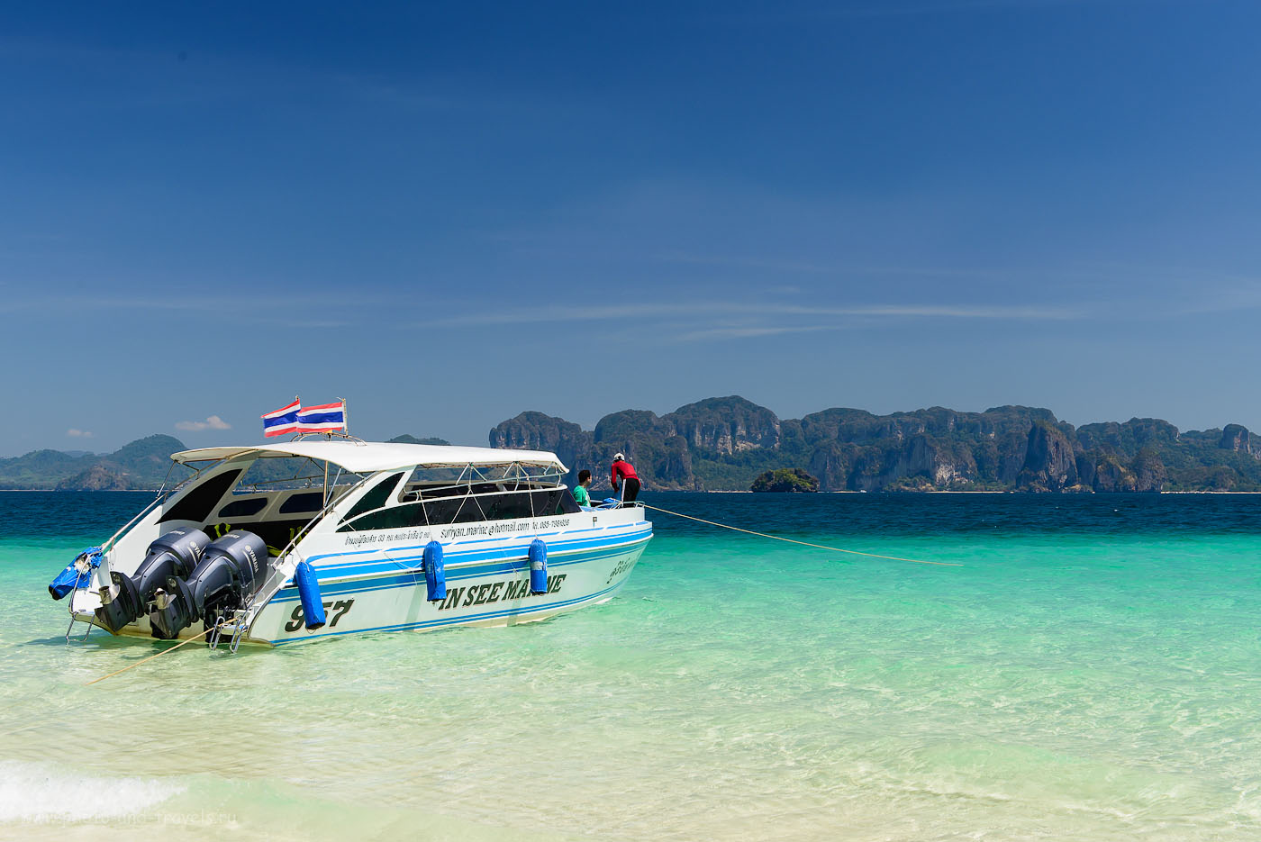 Фотография 8. Скоростной катер на острове Пода. Чем заняться на Краби во время отдыха в Таиланде (200, 45, 9.0, 1/320)