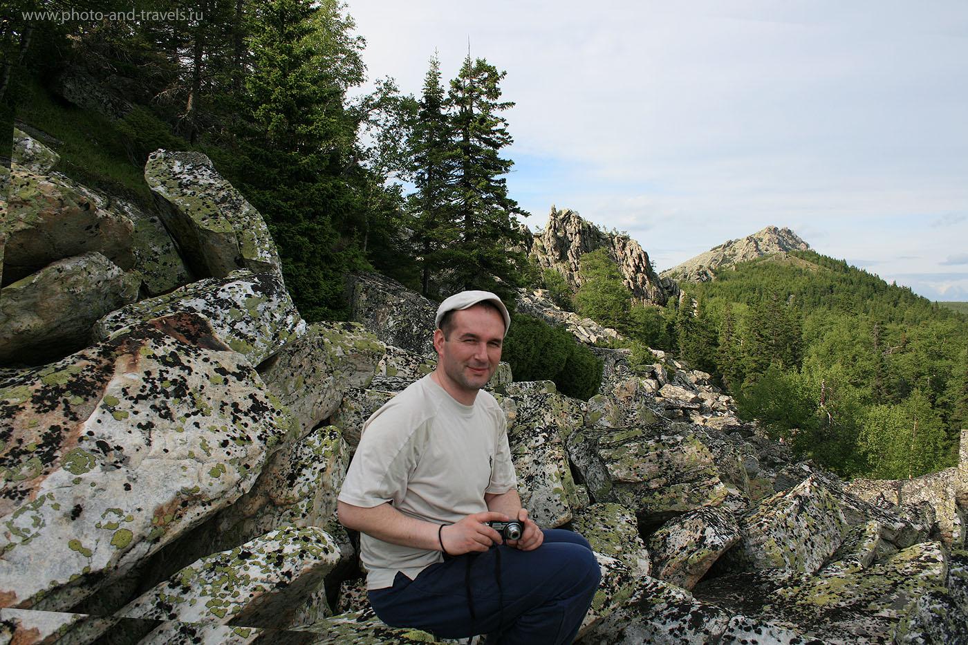 2. Вид с Митькиных скал на Откликной гребень в национальном парке Таганай