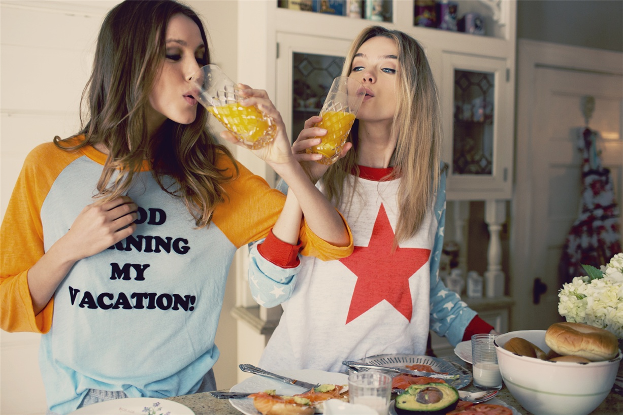 Лето с Wildfox / the feeling of summer 2015 / Josefien Rodermans and Aurelia Gliwska by Mark Hunter and Kimberly Gordon