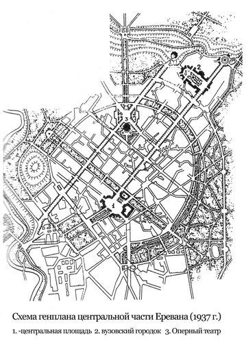 Генплан центра Еревана