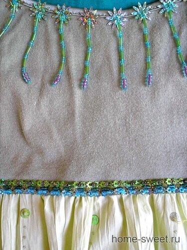 вышивка бисером на одежде