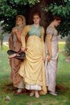 A Summer Shower, by Charles Edward Perugini. 1888