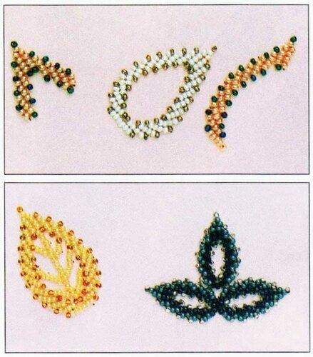 """Размеры  """"листика  """" могут быть различны.  Предлагаю Вам попробовать сплести из бисера красивые листики и украсить ими."""